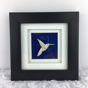 Framed Silver Hummingbird